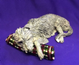 Eve Pearce Hand-Made Model - Deerhound on Bolster